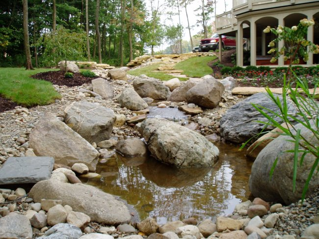 Double Waterfalls, Stream, & Double Ponds At Jefferson Meadows In Blacklick